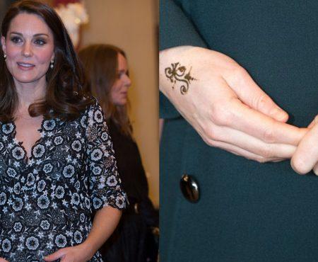 Kate Middleton, surprinsă cu un tatuaj pe mână! A încălcat legea Caselor Regale?!