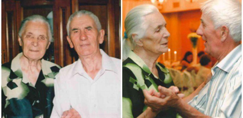 Soții Ivan și Ecaterina Stratan au jucat nunta acum 65 de ani. Voalul era împrumutat, iar costumul de mire – uriaș