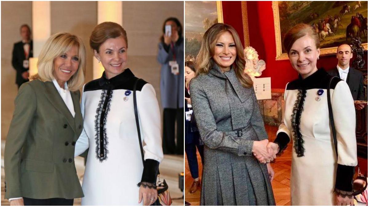 Galina Dodon, versus Melania Trump și Brigitte Macron. Primele doamne s-au întrecut în eleganță la Versailles