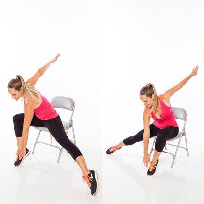 exerciții de la varicoză ședinței pe un scaun)